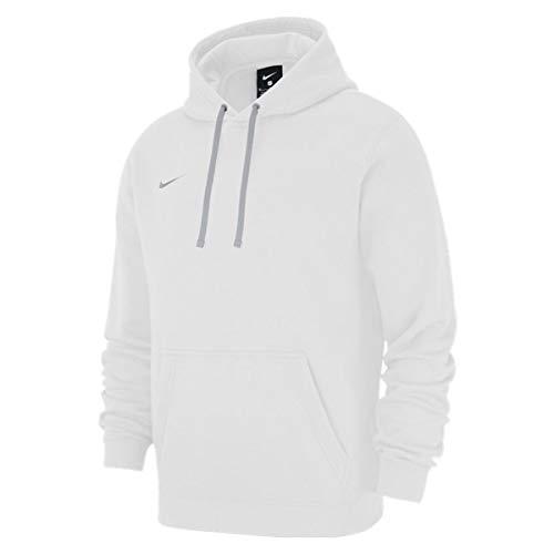 Nike Team Club 19 - Sudadera con capucha para hombre, color blanco blanco M