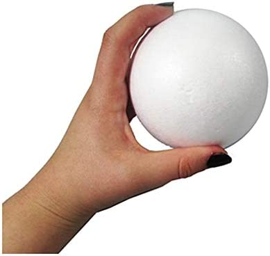 Craft Styrofoam Balls 12 Pack - Polystyrene Smooth White F 4 NEW before selling ☆ Selling in.