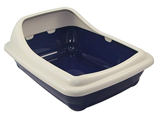 ZEEZ MP3023BL11 Birba Litter Tray, Night Blue, 56x39x21cm