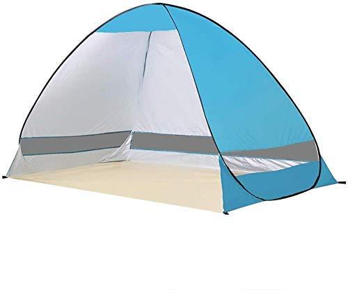 Nuokix Tienda de campaña, Sombra Deportes 2 Personas-Exterior del pabellón de la Playa con Mochila de la Tienda por Que va de excursión Beach Alquiler Pergola (Color : Lightblue)