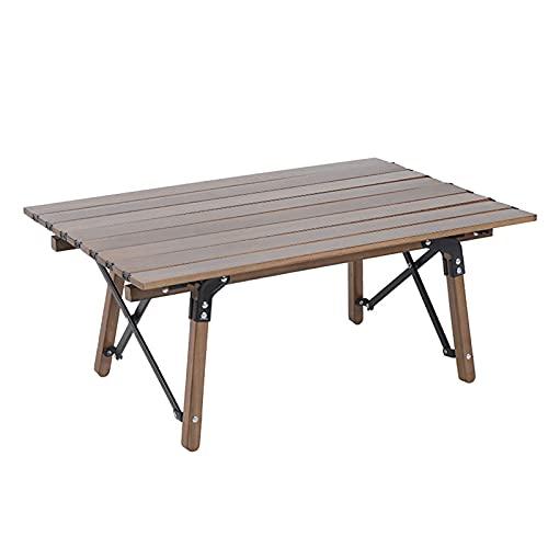 SUPERFIVE Mesa Plegable de Camping, Mesa de jardín Enrollable Resistente a la...