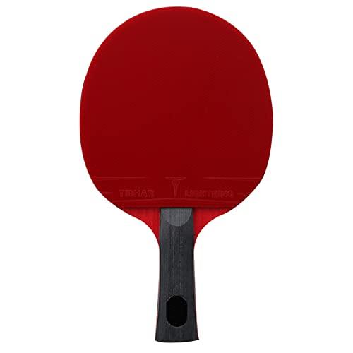LINGOSHUN Raquetas de Ping Pong Aprobado por la ITTF, Raquetas de Tenis de Mesa profesional para Entrenamiento de Alto Nivel,Madera de 7 Capas / 8 Stars/Long handle