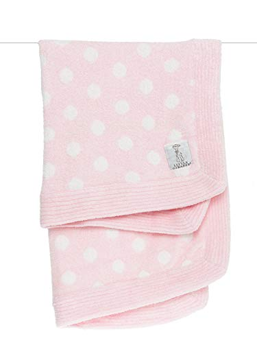 Little Giraffe Dolce Dot Baby Blanket, Pink