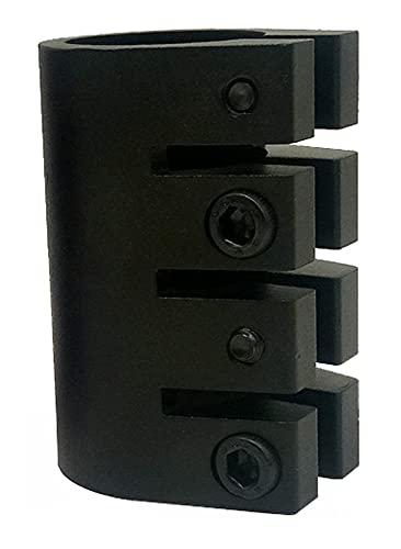 GAOJJ Pro Scooter Clamp 4-Bolt 31.8mm Clamp Abrazadera de Manillar HIC, aleación de Aluminio 6061,Negro