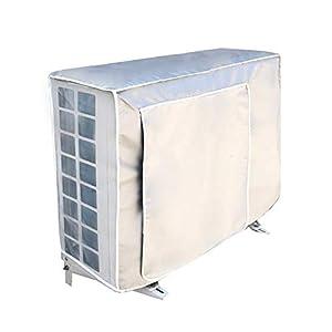 Stecto Funda para Aire Acondicionado, Anti-Polvo Impermeable UV protección Exterior Ventana Aire Acondicionado Cubierta para el hogar, fácil de Limpiar