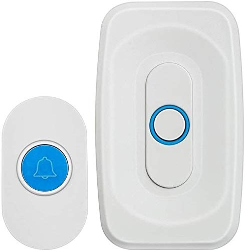 BBGSFDC Entrada Bell Wireless Doorbell Home Wireless Doorbell Set 600 Metros 32 Primera melodía 4 Nivel Volumen Ajustable for Office Hospital School Puerta Chime (Color : A)