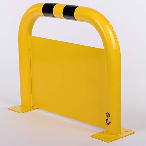 Bolardo de protección antiempotramiento para estacionamiento / parking - altura 600 mm x longitud 1000 mm - Color Negro - Amarillo