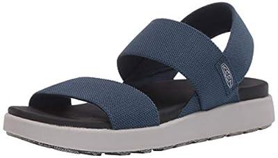 KEEN Women's ELLE Backstrap Sandal, Blue, 6.5