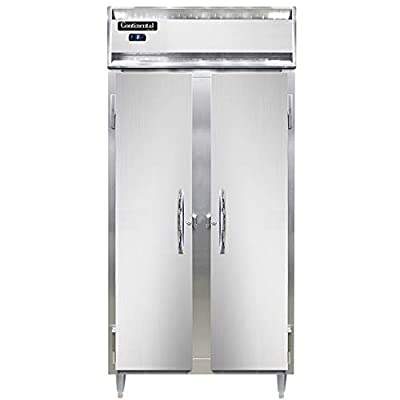 "Continental Refrigerator DL2FSE-SA Designer Line Slim Line Two Section Reach in Freezer, 36-1/4""W, Stainless Exterior"