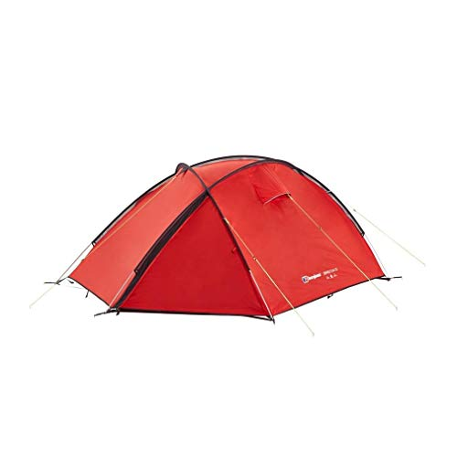 Berghaus Brecon Lightweight Compact Waterproof 2 Person Tent, Red, One Size