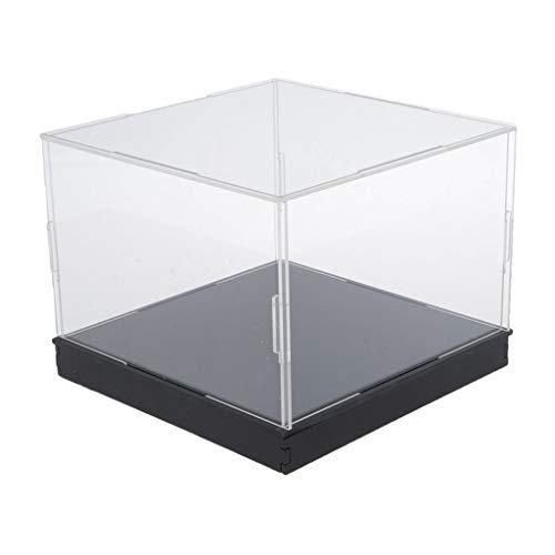 SDENSHI Vítrina de Exposición de Acrílico Transparente Caja de Presentación Antipolvo Estuche de Protección para Mini Figuras -  10x25x15cm