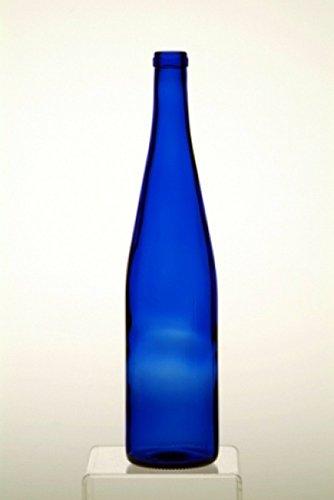 12-750 ml Cobalt Blue Hock Glass Wine Bottles for your Bottle Tree