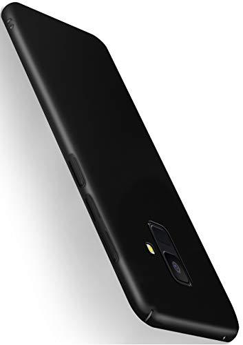moex Alpha Case für Samsung Galaxy A6 (2018) Hülle Stoßfest und Leicht Handyhülle Extra Dünn, Super Slim Schutzhülle Ultra Air Hybrid PC Hardcase aus Kunststoff - Matt Schwarz