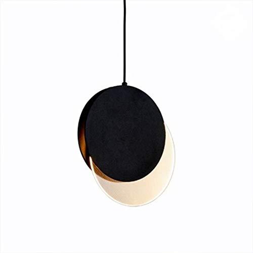 LED-Kronleuchter, modern, Dachboden, nordisches Wohnzimmer, Küche, kreatives Arbeiten, Kleidung, Hängelampe D 28cm schwarz