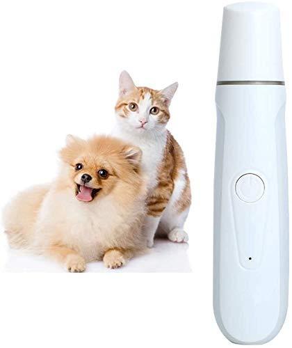 El corte tijeras de pelo de la herramienta perro clavo de la amoladora, bajo nivel de ruido eléctrico del clavo del gato del perro del animal doméstico lijadora de manicura patas Aseo Trimmer Clippers