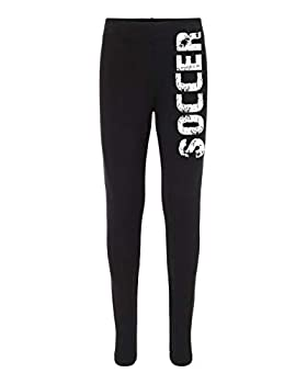 Running On The Wall Soccer Leggings for Athletic Youth Girl Soccer Players  Black Bold Small