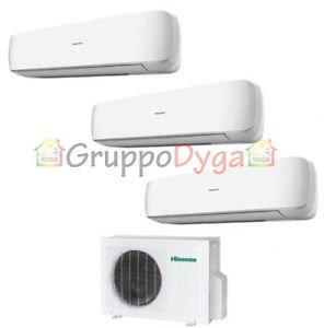 Climatizzatore Hisense Inverter Trial Split Mini Apple Pie 3.8 9+12+12 Amw3-24