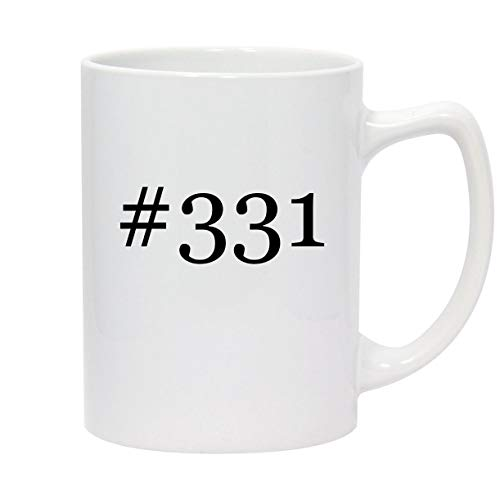#331-14oz Hashtag White Ceramic Statesman Coffee Mug