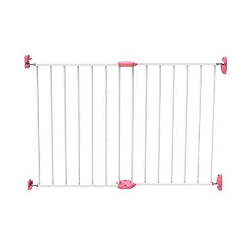 ZTMN Baby Playpen Stair Gate Pet Gate Diviseur de pièce Portable Enfant Barrière Extensible, Longueur 65-100cm (Couleur: Rose)