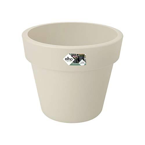 Elho Green Basics Top Planter 30 - Pot De Fleurs - Coton Blanc - Extérieur - Ø 29.6 x H 24.8 cm