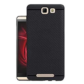 RSC POWER+ Exclusive Dotted Matte Finish Soft Rubberised Back Case Cover for Panasonic Eluga I3 (Black)