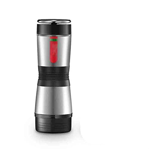 Ekspres do kawy Filtr Ekspres do kawy 2-w-1 Przenośna maszyna do kawy Ręczna maszyna Espresso Nadaje się do biura domowego na zewnątrz (Color : Silver, Rozmiar : One size)