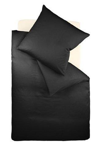 Fleuresse Colours Bettwäsche, Uni-Mako-Satin, schwarz, 135 x 200 cm