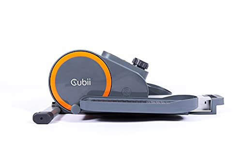 Cubii Go Seated Under Desk Elliptical, Portable w/Built-in Wheels & Retractable Handle, Compact Pedal Bike Exerciser for Home Fitness, Light Up LCD Display, Mobile App