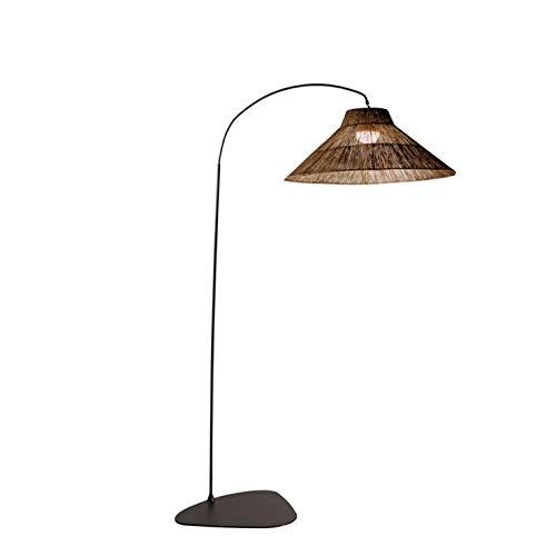 Niza - Lámpara de pie o aplique de pared para exterior inalámbrica, bombilla recargable con mando a distancia, 230 cm de altura natural