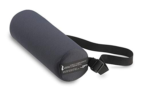 The Original McKenzie Early Compliance Lumbar Roll - Small and Soft Low Back Support for Office Chairs and Car Seats (704)