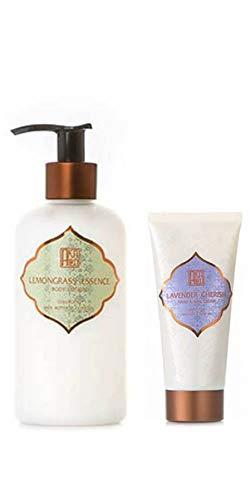 AKALIKO Lemongrass Essence Body Lotion and Lavender Cherish Hand Cream - Set A.