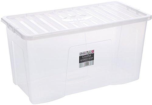 Wham 11500 Solution de Rangement Boîte de Rangement Polypropylène Transparent 79,5 x 39,5 x 40 cm