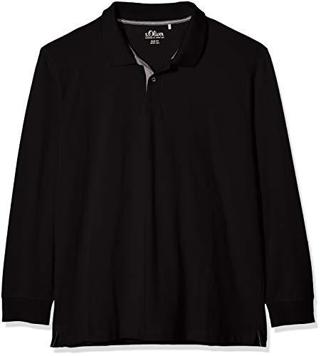 s.Oliver Big Size Herren 15.910.35.6559 Poloshirt, Schwarz (Black 9999), XXX-Large (Herstellergröße:3XL)
