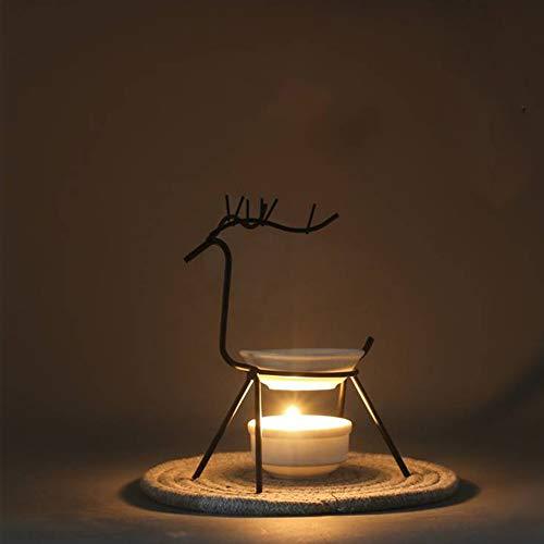 Quemador de aceite esencial – Lámpara de aromaterapia, vela de aromaterapia, lámpara de aceite, decoración de interiores, perfume, apta para salas de reuniones en casa