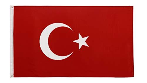FlagScout - Türkei Flagge | 90 x 150 cm | Flaggen mit top Qualität, hochwertige Verarbeitung und kräftige Farben