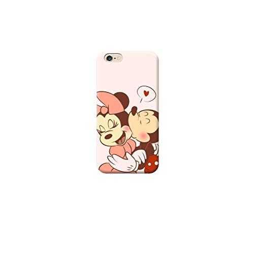 TheBigStock Cover Custodia per Tutti Modelli Apple iPhone x 8 7 6 6s 5 5s Plus 4 4s 5c TPU - D08 topolina e Topolino Bacio Amore Cuore, iPhone 6