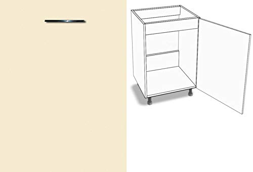 Premium-Ambiente ACERL0122 Unterschrank Spüle 1-türig 60cm breit Schließdämpfer FE (Anschlag Links, 53 Vanille)