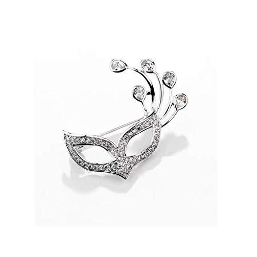Broche Elegante y glamoroso, Material de aleación, for Fiesta, Baile, Ocio 3.3 × 3.5 cm