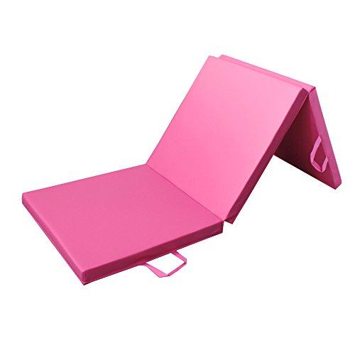 PRISP Sportmatte Klappbar 180 cm, 3-Fach Faltbare Fitnessmatte und Turnmatte für Zuhause, Gymnastikmatte 180cm Lang x 60 cm x 5 cm Dicke