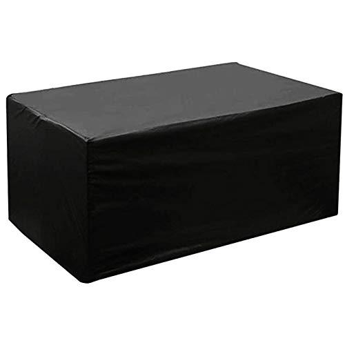 FUSHOU-Funda Muebles Jardin, Puede protegerse del viento/la lluvia, Juego de fundas para muebles de patio Impermeable 420D Tela Oxford de alta resistencia Fundas para mesas y sillas de patio,Negro