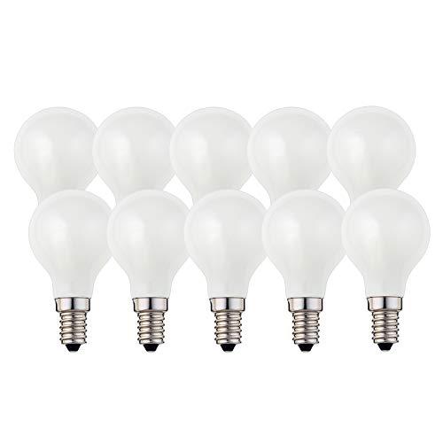 Hellum Bombilla LED de filamento E14, 2700 K, 2 W, mate, 10 unidades, 208207