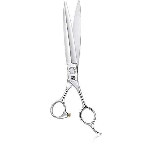7 Inch Hair Cutting Scissors, Professional Hair Trimming Shears Haircut Kit with Sharp Sword Blade and Ergonomic Offset Handle for Barber, Stylists, Hairdresser, Women, and Men