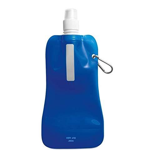 DealDaily – Faltbare Wasserflasche Johnny 480ml mit Karabiner BPA frei, Trinkflasche, Faltflasche Wiederverwendbare Flasche Trinkblase Wandern, Abenteuer, das Reisen