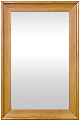 999Store Fiber Framed Decorative Wall Mirror or Bathroom Mirror Golden (30X20)