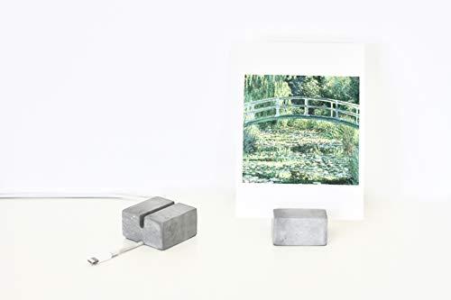 anaan Kartenhalter Fotohalter aus Beton Hochzeit/Tisch Kabelbinder Kabel Clips Kabelhalter Büro Design Industrie Geometrische Deko 2er Set