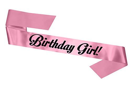 Birthday Girl Sash 16th 18th 21st 30th 40th 50th 60th Party Gift - SB1001- Baby Pink