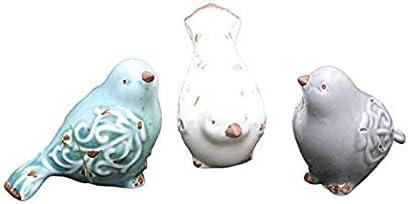 Ceramic birds figurines