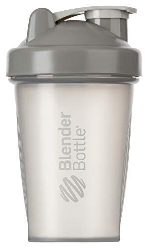 BlenderBottle Classic Botella de agua | Botella mezcladora de batidos de proteínas | con batidor Blenderball | libre de BPA | 590ml - Pebble