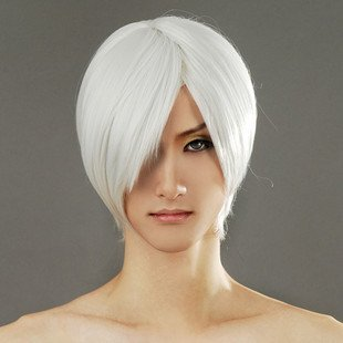 Tqglobal Silver White Wig, Devil May Cry Dante Halloween Cosplay Costume