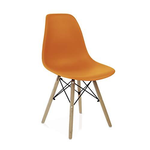 duehome Nordik - Pack 4 sillas, Silla de Comedor, Salon, Cocina o Escritorio, Patas Madera de Haya,